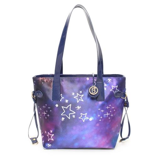 Bolsa Shop Bag Estrela Colorida Sintetica Larissa Manoela 1077599