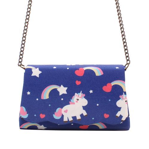 Mini Bag unicórnios e arco íris Lorena Queiroz 11271999